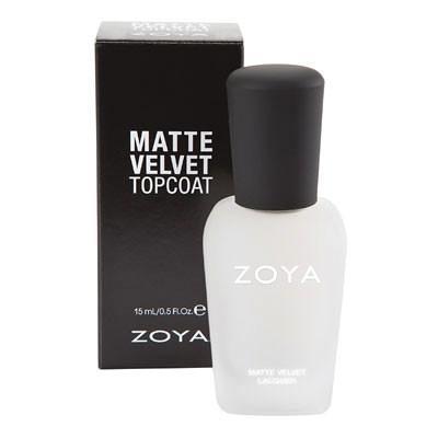 Zoya Matte Velvet Topcoat product impression