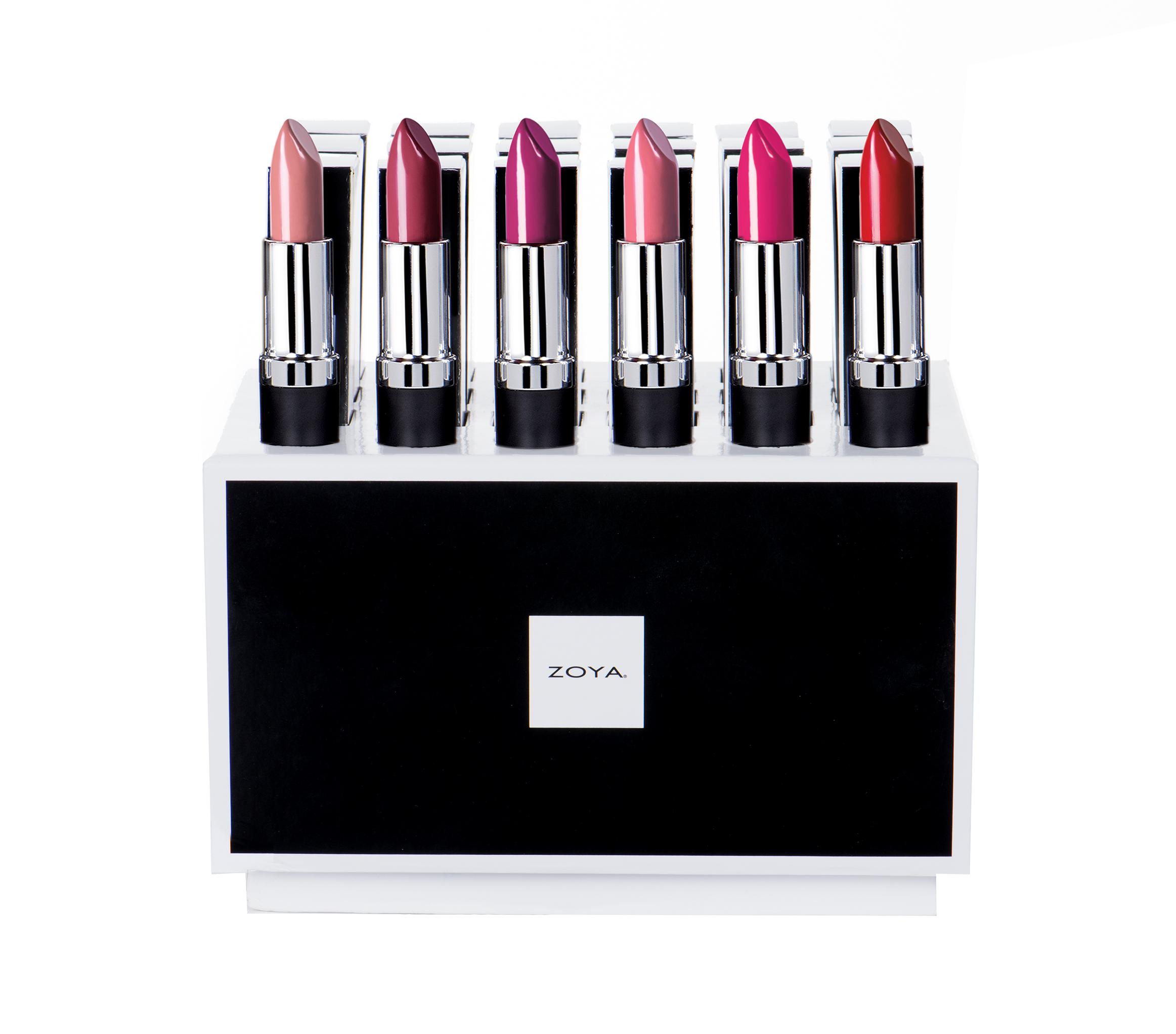 Zoya Sunshine Lipstick Display product impression